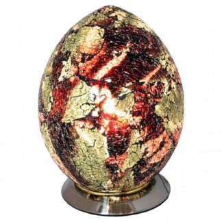 Amber-Medium-Mosaic-Glass-Egg-Lamp