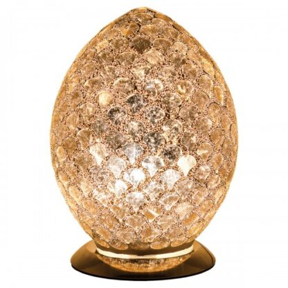 Distressed-gold-medium-mosaic-glass-egg-lamp