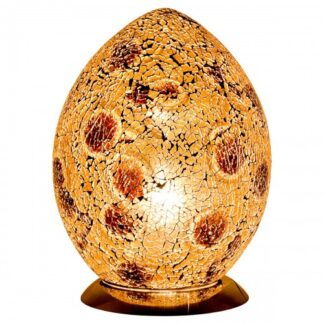 Mocha-medium-mosaic-glass-egg-lamp