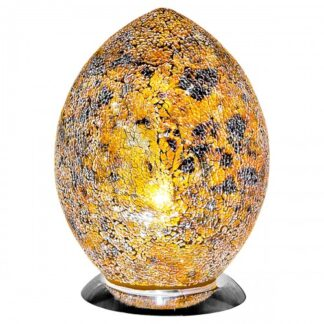 Yellow-medium-mosaic-glass-egg-lamp