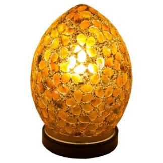 lm71br_mini_mosaic_glass_egg_lamp_brown