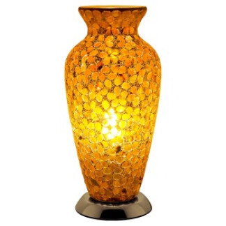 lm73br_mosaic_glass_vase_lamp_brown